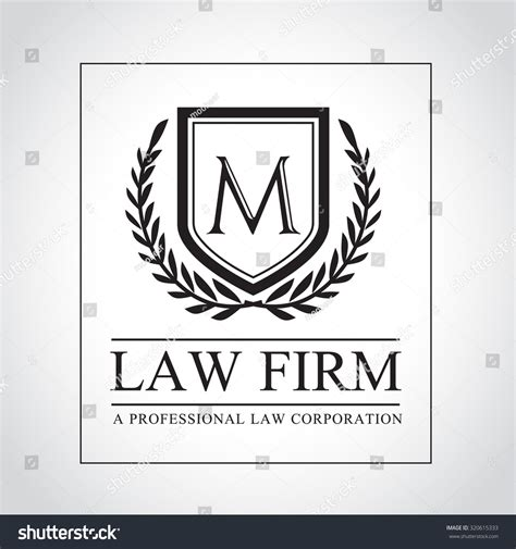 lawyer logo template office logo collection judge stock vector