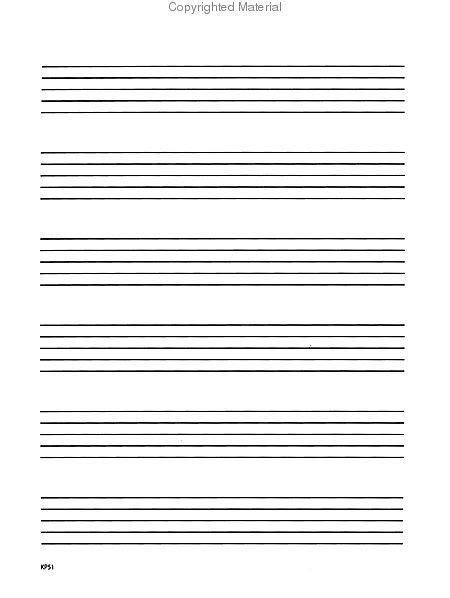 printable wide staff paper sheet music bastien wide ruled manuscript book stationery