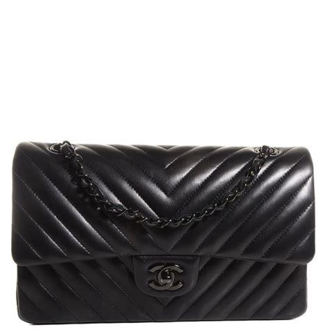 Ff Chanel Chevron Medium chanel lambskin chevron medium flap so black 95530