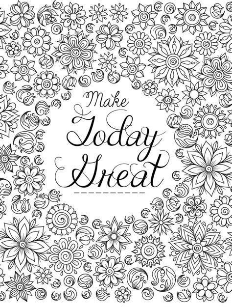 962 best coloring pages images on pinterest 20 printable adult coloring pages quotes selection free