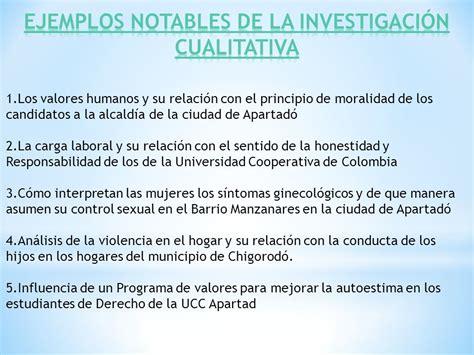 preguntas de investigacion cuantitativa ejemplos la investigaci 211 n cualitativa ppt video online descargar