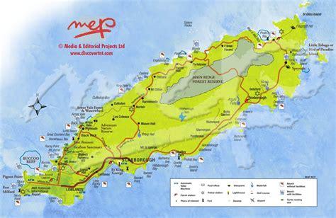 and tobago map tobago and kariwak resort