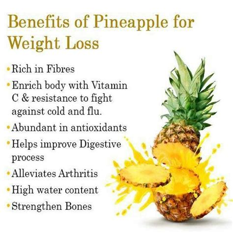 Pineapple Detox Diet Plan by Benefits Of Pineapple For Weight Loss Health Tips