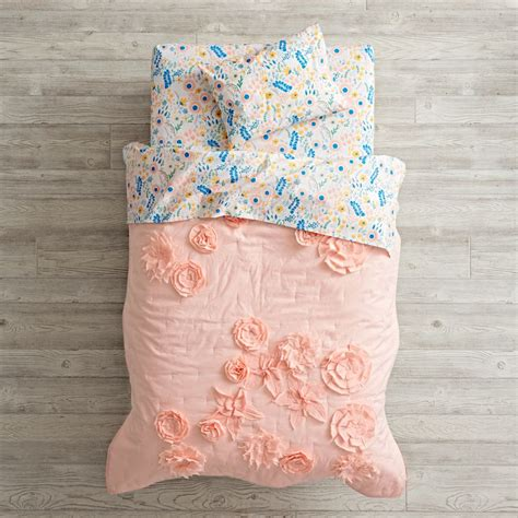 toddler bed comforter floral rush toddler bedding the land of nod