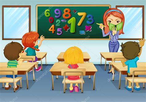 Drawing 1 Class In College by Professor De Matem 225 Tica Ensinando Em Sala De Aula Vetor