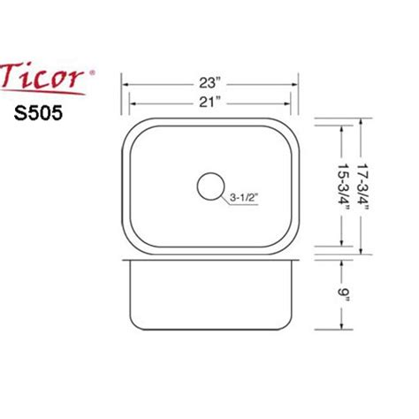 Single Bowl Kitchen Sink Sizes Ticor S505 Undermount 16 G Stainless Steel Single Bowl Kitchen Sink Accessories