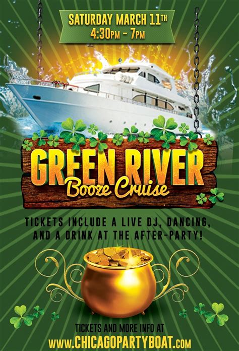 chicago boat party 2017 green river booze cruise on march 11th 2017 chicago il