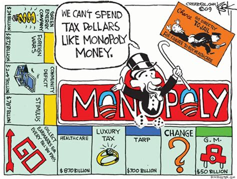 Competition And Monopoly In Care monopoly money by chip bok kaiser health news