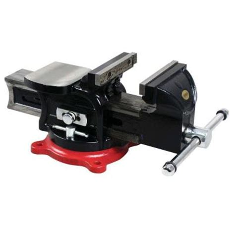 home depot bench vice bessey 5 in multi purpose rotating pipe and bench vise