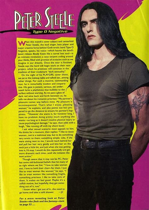 playgirl peter steele type o negative august 1995 pete peter steele of type o negative playgirl interview