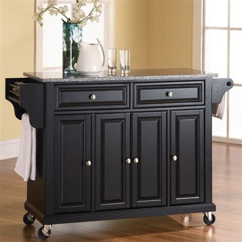 kitchen carts islands cool solid quality is yours with the solid granite top