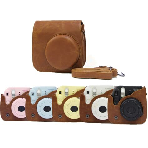 Fujifilm Leather Bag Polaroid Instax Mini 8 Hello Diskon vintage brown leather bag for instax mini 8 mini 8 mini 9