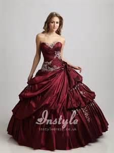 burgundy quinceanera dresses vintage burgundy strapless embroidered bodice quinceanera dress with up skirt