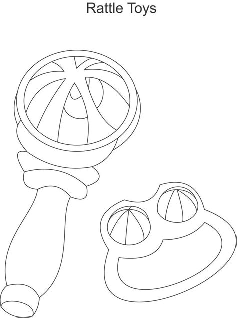 coloring page rattle baby rattle coloring coloring pages