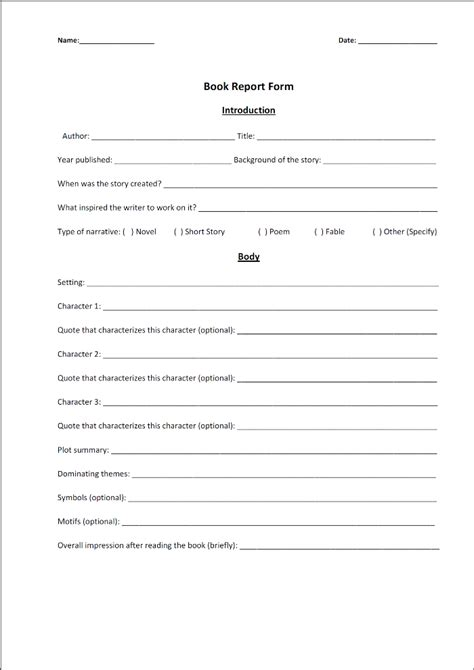 book report template for high school best photos of book report template high school high