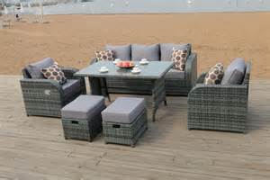 Dining Table With Sofa Chairs Lotus Rattan Garden Furniture Set Sofa Dining Table Chairs Conservatory Outdoor Ebay