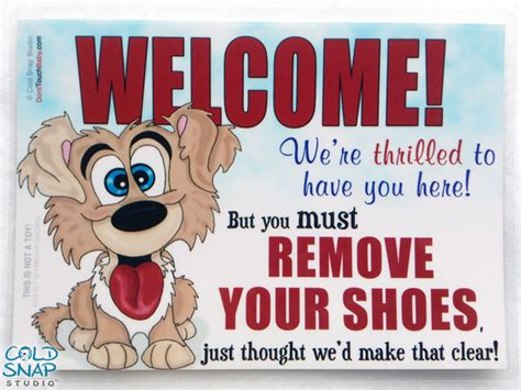 no shoes in the house goofy puppy no shoes in the house signs remove your shoes home sign