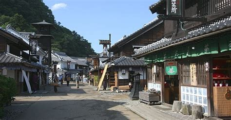 japanese town kinugawa onsen travel nikko edomura edo wonderland