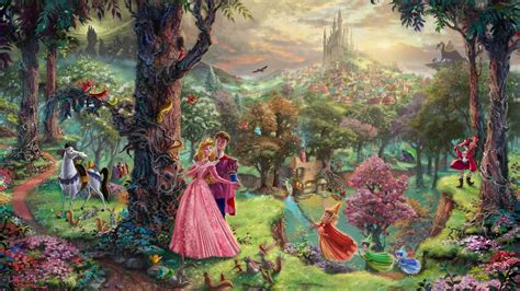 disney wallpaper thomas kinkade 1920x1080 thomas kinkade sleeping beauty animated film