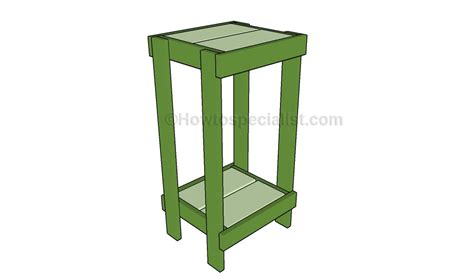 How To Make A Plant Holder - how to build a plant stand howtospecialist how to