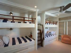 Bunk Beds In A Small Room Kid Friendly Bedroom Sleeps Six In Bunk Beds Hgtv
