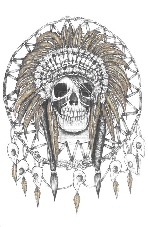 skull indian headdress dreamcatcher my life pinterest