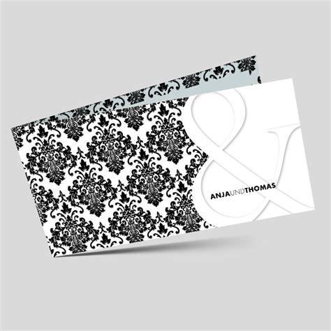 Hochzeitseinladungen Muster by Hochzeitseinladung Barockes Muster