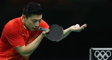 how long is a table tennis table ma long photos table tennis olympics day 9 93 of