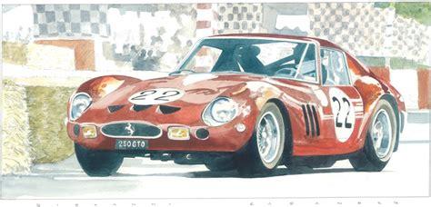 vintage ferrari art ferrari 250 gto classic cars art watercolour art