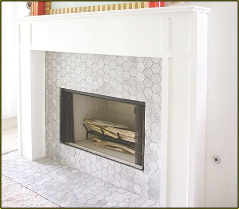 marble subway tile fireplace surround best 10 mosaic tile fireplace ideas on