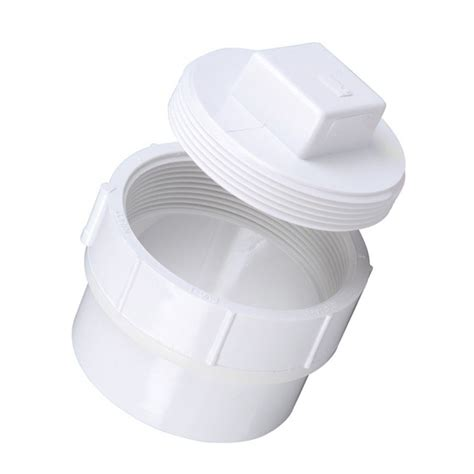 Clean Out Pvc 4 4 quot dwv pvc fitting cleanout adapter and d112 040