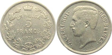 möbel in belgien 5 francs 1931 belgien albert i belgien 1909 1934