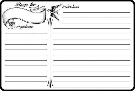 recipe template printable classic 4x6 recipe card free printable printable