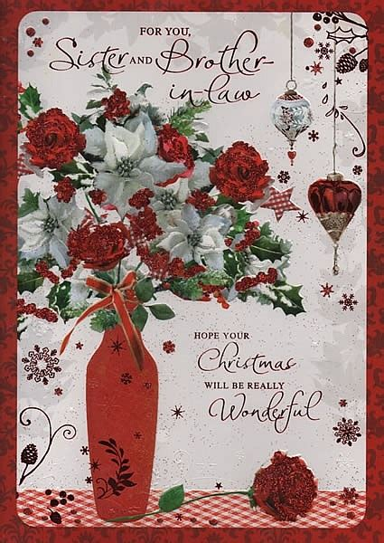 family christmas cards   sister  brother  law merry christmas wishes
