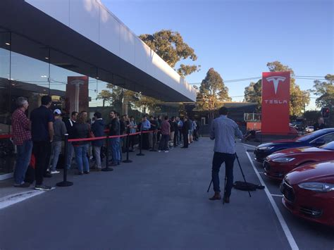 tesla person australian person in the world to order tesla model
