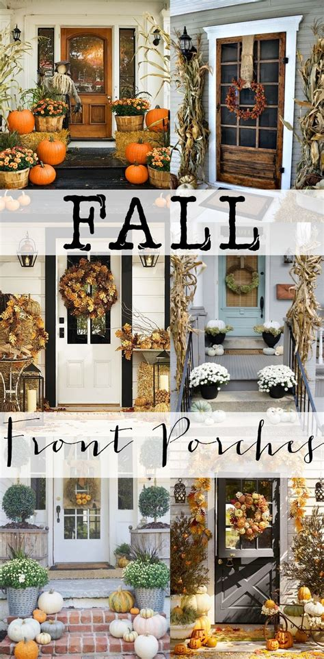fall front porches front porches porch and inspiration