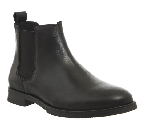 mens office cage chelsea boots black leather boots ebay