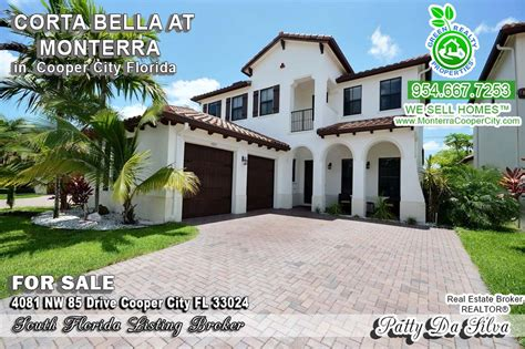 home with salt water pool in monterra cooper city fl for sale