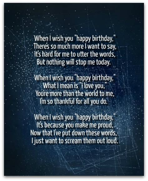 I Wanna Wanna Wish You A Happy Birthday Birthday Poems Original Poems For Birthdays
