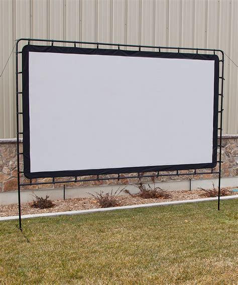 backyard projector screen entertainment gear 132 indoor outdoor projection screen