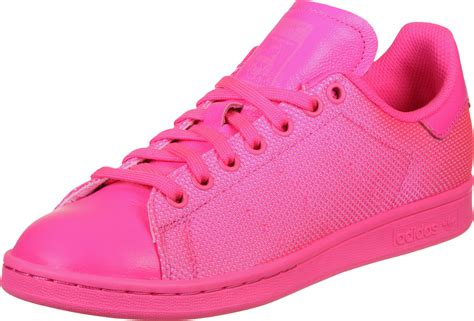adidas stan smith shoes pink neon