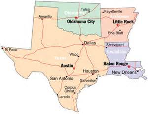 map of arkansas oklahoma and louisiana south central states site selection magazine march 2009