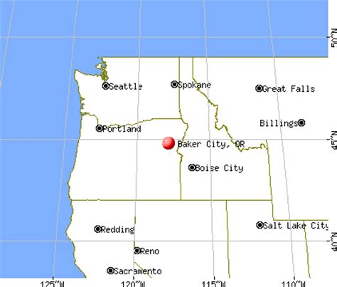 map of oregon baker city baker city oregon or 97814 profile population maps