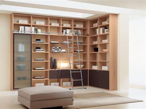librerie angolari moderne mobili sistemi modulari salotto idf