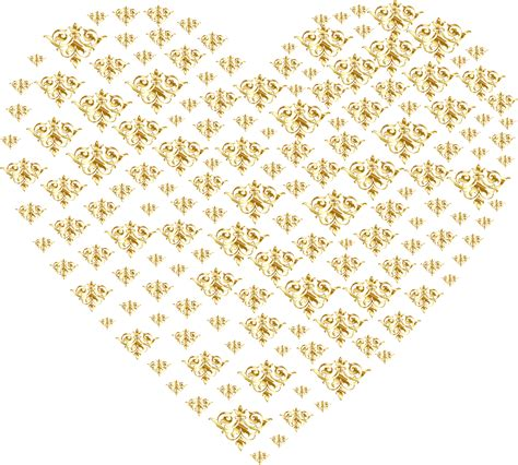 gold wallpaper png clipart gold damask heart no background