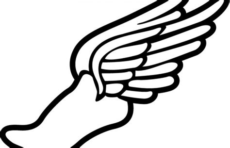 running shoes with wings clipart track shoe with wings clipartion