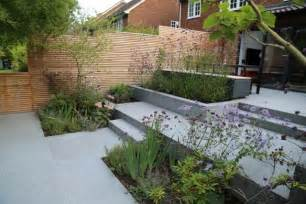 Small Raised Bed Vegetable Garden by Blue Grey Granite Paving
