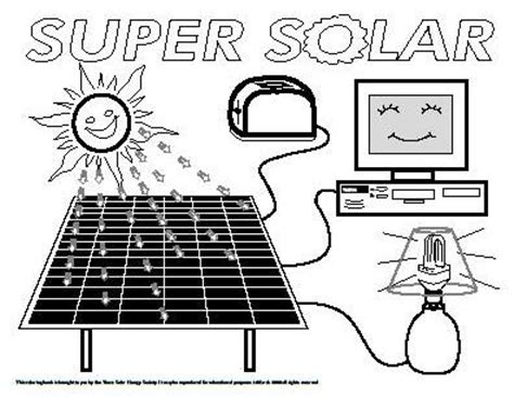 solar power coloring sheets coloring pages