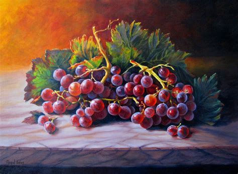 imagenes de uvas en oleo bodeg 211 n con uvas molineras cuadro original 211 leo sobre