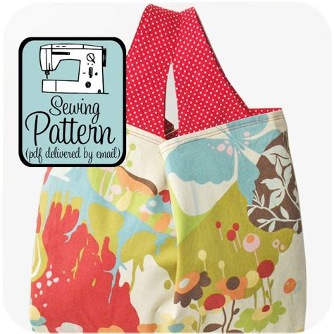 sewing pattern grocery bag grocery bag pdf sewing pattern crafts pinterest